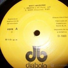 Discos de vinilo: LPWHY? MAQUINA!MAQUINA!DIABOLO. 1971. Lote 45437434