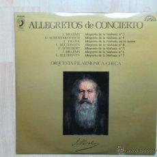 Discos de vinilo: ALLEGRETOS DE CONCIERTO ORQUESTA FILARMONICA CHECA DISCOPHON 1974. Lote 45781253