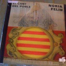 Discos de vinilo: NURIA FELIU, EL CANT DEL POBLE. NURIA FELIU PRODUCCIONS-BELTER 1977. Lote 45781429