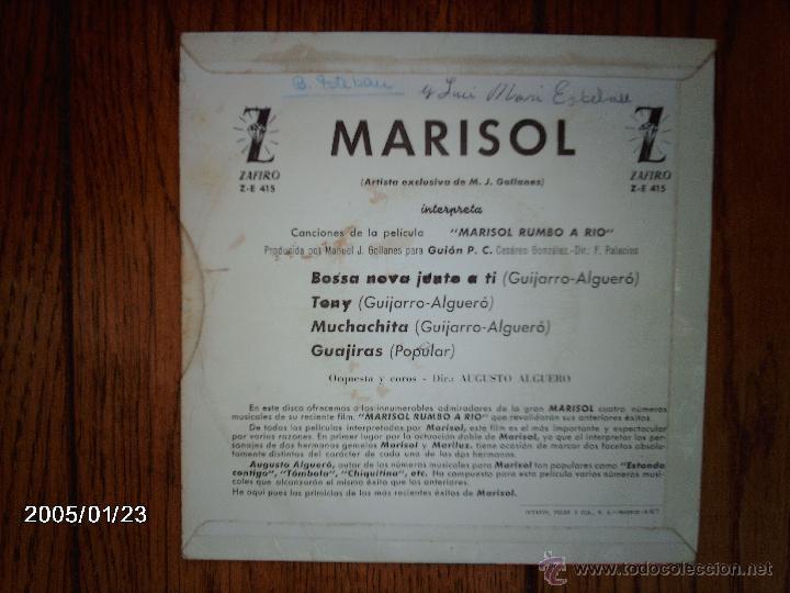 Discos de vinilo: marisol - bossa nova junto a ti + 3 - Foto 2 - 45787757