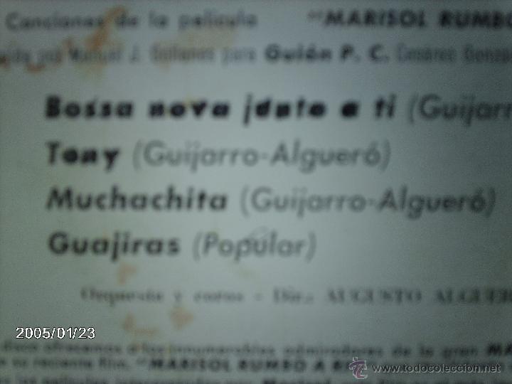 Discos de vinilo: marisol - bossa nova junto a ti + 3 - Foto 4 - 45787757
