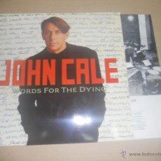 Discos de vinilo: JOHN CALE (LP) WORDS FOR THE DYING - AÑO 1989 - ENCARTE INTERIOR CON LETRAS. Lote 45790568