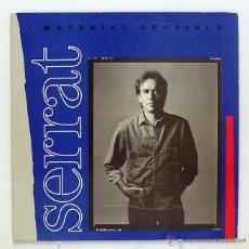 Discos de vinilo: JOAN MANUEL SERRAT - 'MATERIAL SENSIBLE' (LP VINILO. ENCARTE CON LETRAS. ORIGINAL 1989). Lote 45845714