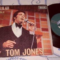Discos de vinilo: TOM JONES SINGLE DELILAH MADE IN SPAIN. 1967. Lote 45857018