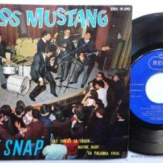 Discos de vinilo: LOS MUSTANG -LE SNAP - EP 1964- FIRMADO POR LA FORMACION CLASICA DE LOS 60´S.. Lote 45860752
