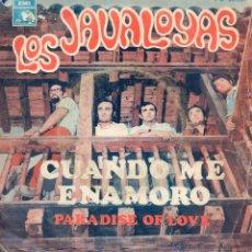 Discos de vinilo: JAVALOYAS, SG, CUANDO ME ENAMORO + 1 , 1968. Lote 45862123