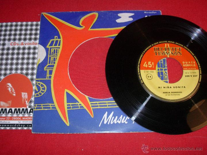 AMALIA RODRIGUES ET SES GUITARISTES MI NIÑA BONITA DON TRIQUI - TRAQUE FRANCE SINGLE (Música - Discos - Singles Vinilo - Cantautores Extranjeros)