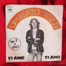 Discos de vinilo: UMBERTO TOZZI (AÑO 1977). Lote 45874058