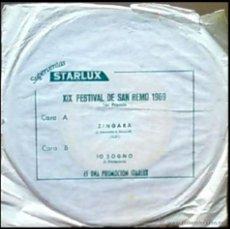 Discos de vinilo: IVA ZANICCHI - ZINGARA / IO SOGNO - SAN REMO 1969 - SPAIN SG OBSEQUIO STARLUX. Lote 12208075