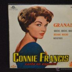 Discos de vinilo: CONNIE FRANCIS - GRANADA + 3 - EP. Lote 45881016