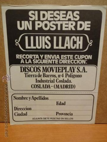Discos de vinilo: LLUÍS LLACH. CAMPANADES A MORTS. LP / MOVIE PLAY - 1977. + FOLLETO. CALIDAD LUJO / SIN USO ****/**** - Foto 2 - 45886462
