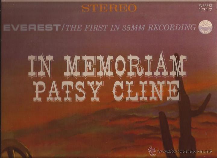 LP-PATSY CLINE IN MEMORIAN-EVEREST 90851-STEREO-USA 1964-COUNTRY (Música - Discos - LP Vinilo - Country y Folk)