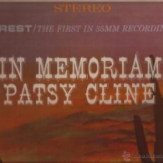 Discos de vinilo: LP-PATSY CLINE IN MEMORIAN-EVEREST 90851-STEREO-USA 1964-COUNTRY. Lote 45888051