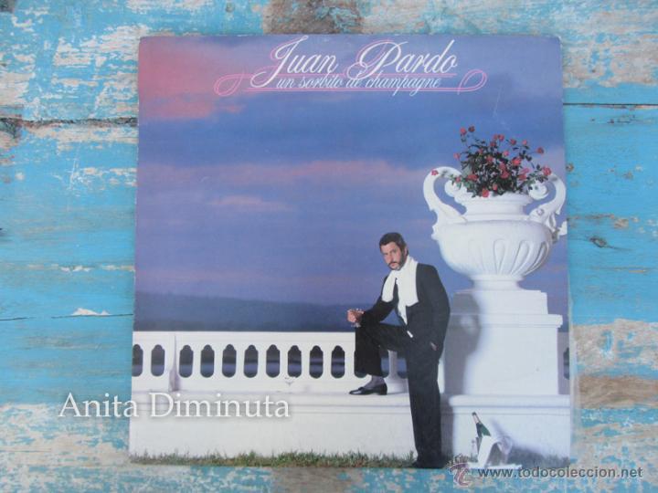 ANTIGUO DISCO VINILO LP - JUAN PARDO - UN SORBITO DE CHAMPAGNE - HISPAVOX 1984 - DISCO EN BUEN ESTAD (Música - Discos - LP Vinilo - Solistas Españoles de los 70 a la actualidad)