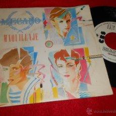 Discos de vinilo: MECANO MAQUILLAJE 7 SINGLE 1982 CBS PROMO UNA CARA MOVIDA POP NACHO CANO. Lote 45899780