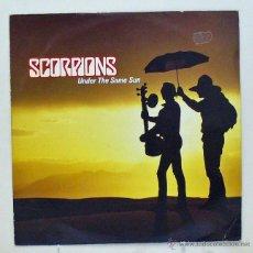 Discos de vinilo: SCORPIONS - 'UNDER THE SAME SUN' (MAXI SINGLE VINILO AMARILLO. ORIGINAL 1993. REINO UNIDO). Lote 45905039