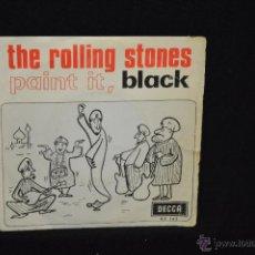 Discos de vinilo: THE ROLLING STONES - PAINT IT BLACK + 1 - SINGLE. Lote 67612462
