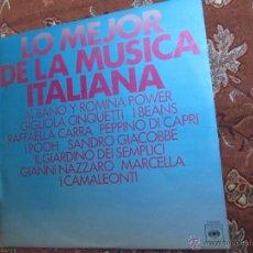 Discos de vinilo: LO MEJOR DE LA MUSICA ITALIANA, CON R. CARRA, GIGLIOLA CINQUETTI, PEPPINO DI CAPRI, SANDRO GIACOBBE. Lote 45920607