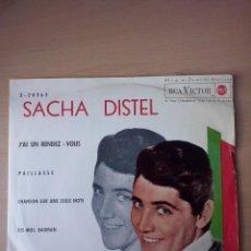 Discos de vinilo: EP- SACHA DISTEL, J'AI UN RENDEZ- VOUS- 1962 RCA. Lote 45926197