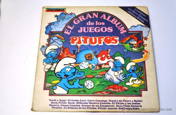 DISCO DE VINILO. LP. PITUFOS. 1983. EL GRAN ALBUM DE LOS JUEGOS. SONOGRAFICA. (Música - Discos - Singles Vinilo - Música Infantil)