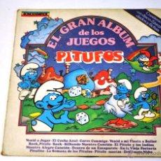 Discos de vinilo: DISCO DE VINILO. LP. PITUFOS. 1983. EL GRAN ALBUM DE LOS JUEGOS. SONOGRAFICA.. Lote 195338116
