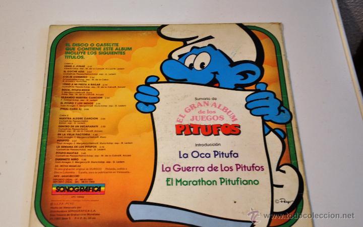 Discos de vinilo: DISCO DE VINILO. LP. PITUFOS. 1983. EL GRAN ALBUM DE LOS JUEGOS. SONOGRAFICA. - Foto 2 - 195338116