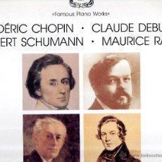Discos de vinilo: FAMOUS PIANO WORKS WALTER GIESEKING ARTURO BENEDETTI MICHELANGELI FREDERIC CHOPIN PIANO SON. Lote 45935461