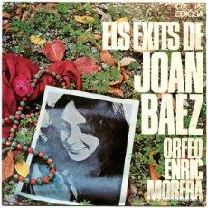 Discos de vinilo: ORFEO ENRIC MORERA - ELS EXITS DE JOAN BAEZ - EP SPAIN 1967 - EDIGSA CM 182. Lote 45935528