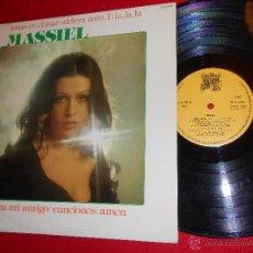 Discos de vinilo: MASSIEL ROSAS EN EL MAR LP 1976 CAUDAL. Lote 45936598