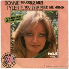 Discos de vinilo: BONNIE TYLER - MARRIED MAN - SN SPAIN 1979 - RCA/VICTOR PB 5164. Lote 45937278