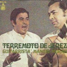 Discos de vinilo: TERREMOTO DE JEREZ EP HISPAVOX 1970 NI TESTIGOS NI ABOGADO +3 FANDANGOS BULERIAS SOLEARES. Lote 150115662