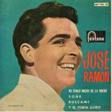 Disques de vinyle: JOSE RAMON, EP, NO TENGO MIEDO DE LA NOCHE (NON HO PAURA DELLA NOTTE) + 3, AÑO 1963. Lote 45947167