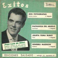 Discos de vinilo: JOSE LUIS DE UTIEL - DOS FOTOGRAFIAS + 3 (EP DE 4 CANCIONES) PENTAVOX 1963 - VG/VG. Lote 45950480