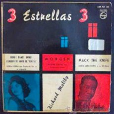 Discos de vinilo: SOPHIA LOREN, LOUIS ARMSTRONG... 3 ESTRELLAS 3. EP ESPAÑA ORIGINAL. Lote 27001212