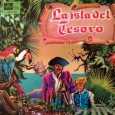 Discos de vinilo: LA ISLA DEL TESORO - NARRACIÓN INFANTIL DRAMATIZADA - LP. Lote 28594134