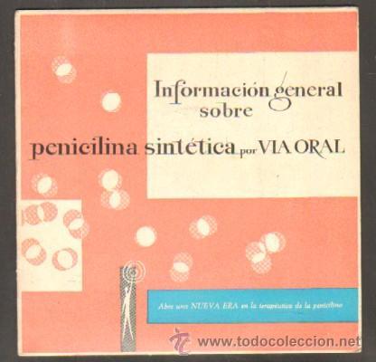 INFORMACIÓN GENERAL SOBRE PENICILINA SINTÉTICA POR VÍA ORAL RF-8126 (Música - Discos - Singles Vinilo - Otros estilos)