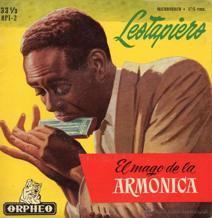 SALVADOR LESTAPIERS - EL MAGO DE LA ARMONICA, EP, OKEY + 5, AÑO 1959 (Música - Discos de Vinilo - EPs - Grupos y Solistas de latinoamérica)