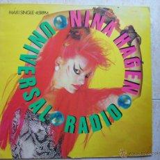Discos de vinilo: NINA HAGEN - UNIVERSAL RADIO. Lote 45961591