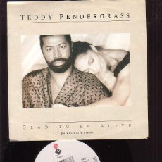 Discos de vinilo: TEDDY PENDERGRASS - GLAD TO BE ALIVE / WITH YOU. Lote 45977191