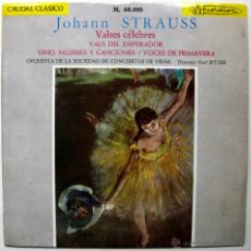 Discos de vinilo: JOHANN STRAUSS - VALSES CÉLEBRES - EP MARFER/MUSIDISC 1965 BPY. Lote 45979266