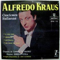Discos de vinilo: ALFREDO KRAUS - CANCIONES ITALIANAS - EP MONTILLA / ZAFIRO 1959 BPY. Lote 45979698