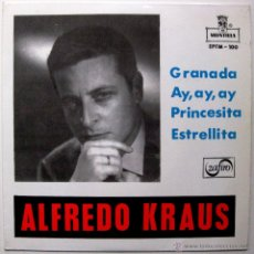 Discos de vinilo: ALFREDO KRAUS - GRANADA - EP MONTILLA / ZAFIRO 1959 BPY. Lote 45979805