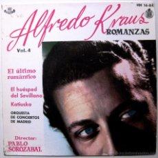 Discos de vinilo: ALFREDO KRAUS - ROMANZAS DE ZARZUELAS VOL. 4 - EP HISPAVOX 1959 BPY. Lote 45979892