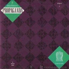 Disques de vinyle: PROPAGANDA - MACHINERY - SINGLE ESPAÑOL DE VINILO. Lote 45983614
