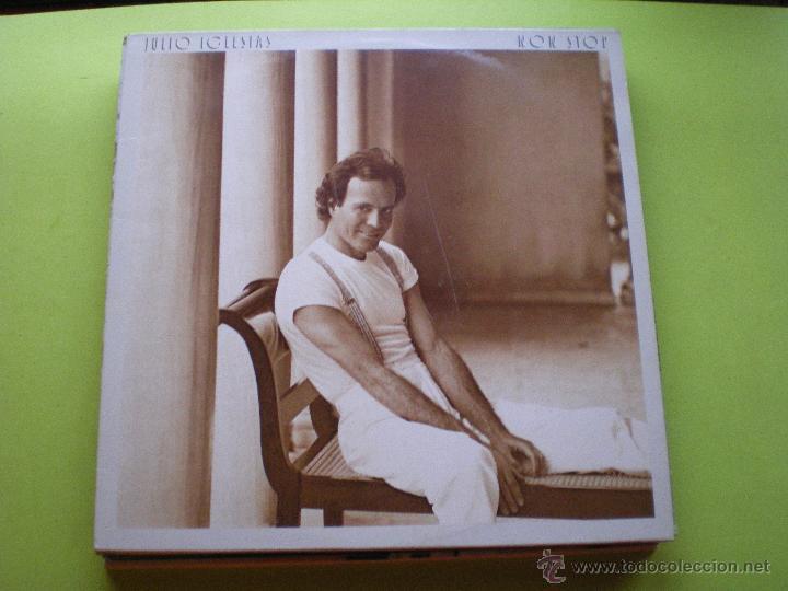 JULIO IGLESIAS / NON STOP (LP CBS DE 1988) CON ENCARTE PEPETO (Música - Discos - LP Vinilo - Solistas Españoles de los 70 a la actualidad)