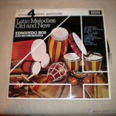 Disques de vinyle: EDMUNDO ROS - LATIN MELODIES OLD. Lote 45985187