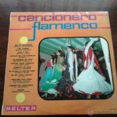 Discos de vinilo: DISCO DE VINILO : CANCIONERO FLAMENCO.. Lote 45988199