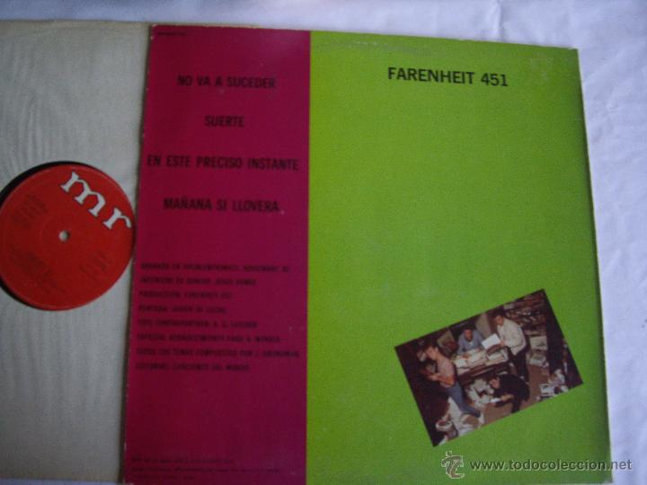 Discos de vinilo: FARENHEIT 451 MX NO VA A SUCEDER +3 MR 1983 JOYA MOVIDA POP EX- / EX - Foto 2 - 46006526