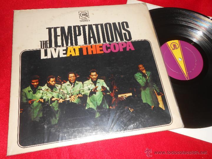 THE TEMPTATIONS LIVE AT THE COPA LP 1968 GORDY EDICION AMERICANA USA (Música - Discos - LP Vinilo - Funk, Soul y Black Music)