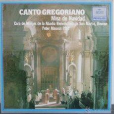 Discos de vinilo: CANTO GREGORIANO - MISA DE NAVIDAD (**COMO NUEVO**). Lote 46042278